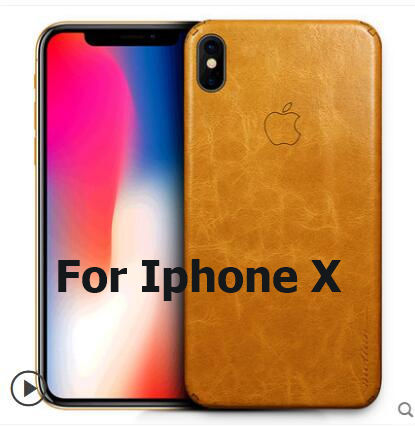 For iphone X case Genuine leather.Paste 360 degree all-leather leather phone case for iphone x case cover with tracking code