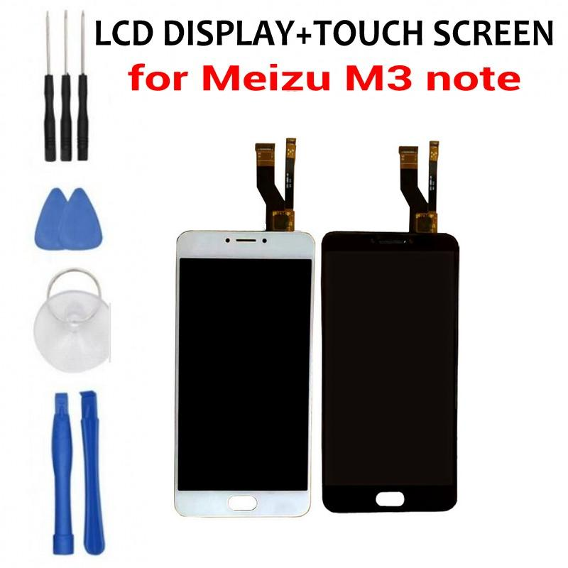 Free shipping Meizu m3 note LCD display + touch screen 5.5 inch  Replacement Accessories LCD Screen free tools as gift-in Mobile Phone LCD Screens from Cellphones & Telecommunications
