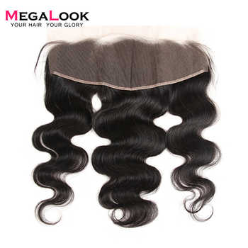 Megalook 13X4 Body Wave Lace Frontal Peruvian Natural Color Remy Human Hair Pre Plucked with Baby Hair Frontal 10-22 inch - Category 🛒 Hair Extensions & Wigs