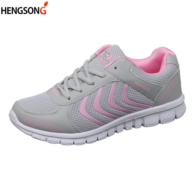 2018 New Women Casual Shoes Fashion Breathable Air Mesh Sneakers Women Flats Light Weight Soft Sneakers Woman Shoes Size 36-44