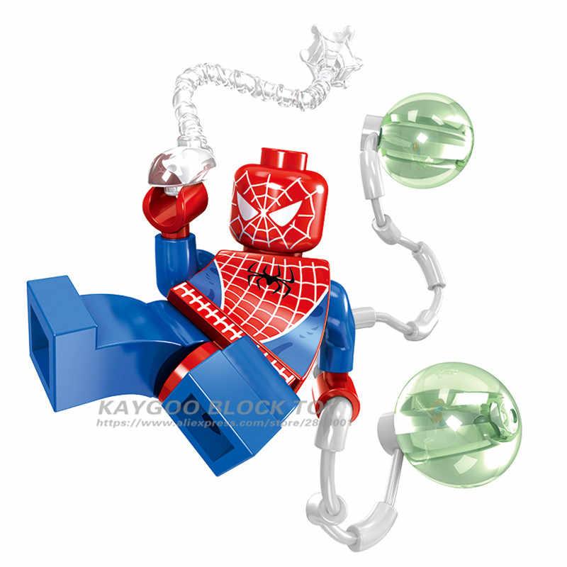 Анти Веном совместимые legoings Дэдпул Человек-паук Фигурки Супергерои Мстители Строительные блоки игрушки фигурка для детей