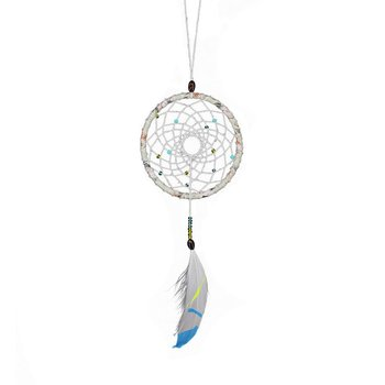 MS7026 Dream Catcher Single Ring Small Pendant Car Pendant Feather Crafts Art Leisure Home Decoration