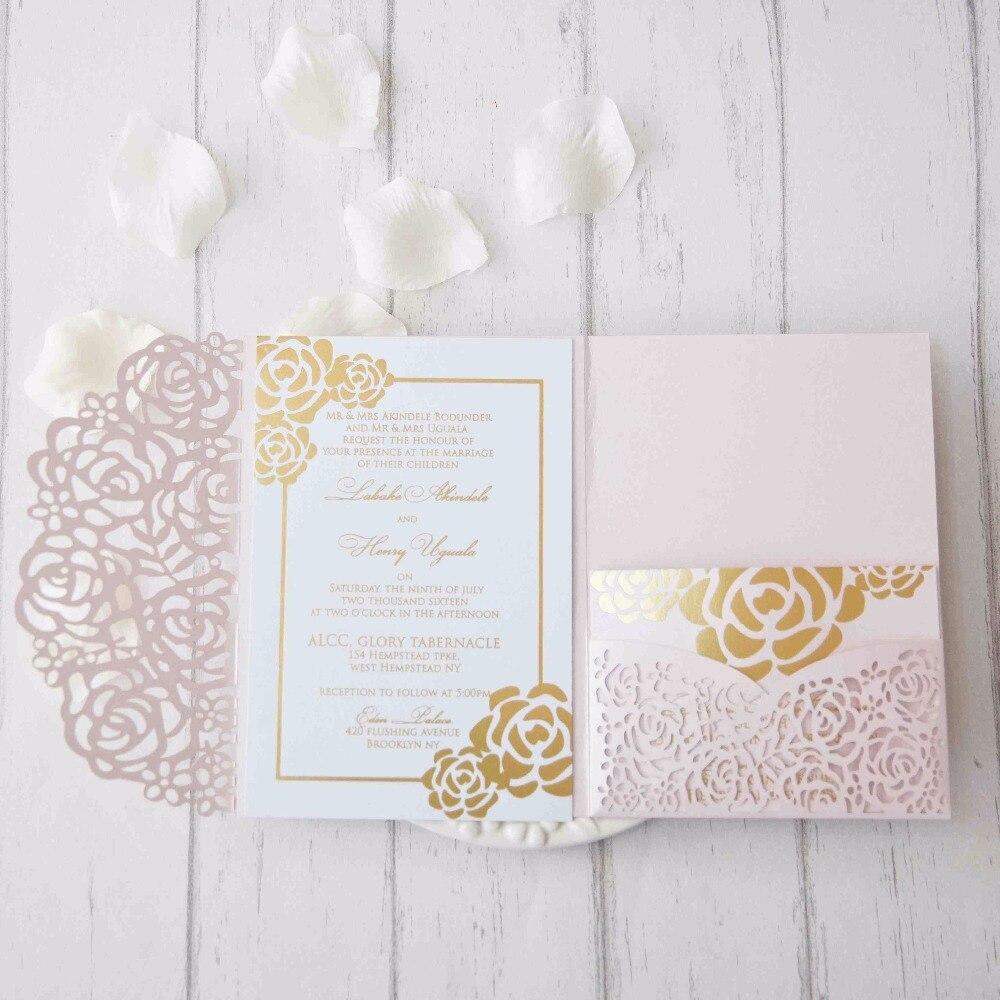 10 sets laser cut gate new design arabic wedding invitation card ...