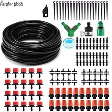 hot deal buy 30m automatic micro drip irrigation system garden irrigation spray self watering kits with adjustable dripper
