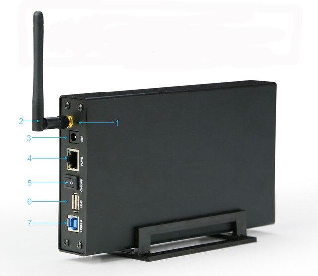6TB Reading Capacity drive usb3.0 external hard drive enclosure case hd notebook sata HDD SSD USB 3.0 hard drive wifi housing