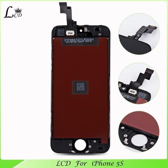 Розничные продажи китай мобильный телефон запчасти класса AAA качество для iphone 5S дисплей