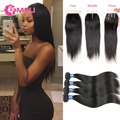 Yvonne Hair Filipino Virgin Hair with Lace Closure Bleached Knots Best Filipino Hair 3 Bundles Silky Straight Hair with Closure