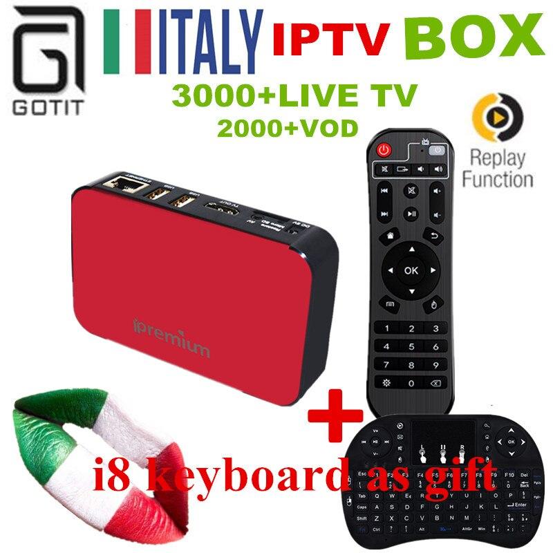 GOTiT Italy IPTV AVOV TVOnline Streaming Box 3000+LIVETV 20K+VOD EX-YU Spain Portugal Adult Hotclub TV Channel KO Mag254 TV Box twip gotit 53