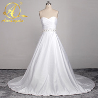 Beautiful Weeding Dress Long Sleeve Scoop Lace Wedding Dresses Cheap Detachable Elegant A Line Weeding Gowns