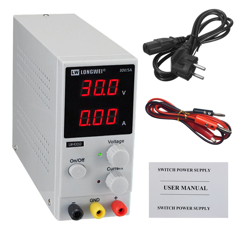 LW K305D 30V 5A Power Supply Adjustable Switching Regulated DC Power Supply For Mobile Phone Repair Laboratory Power Supplies