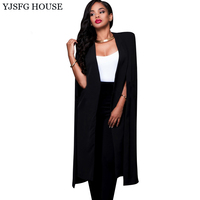 YEJIA FASHION Long Sleeve Elegant Party Blazers Women Autumn Winter Stylish Black Blazer Feminino Top Design