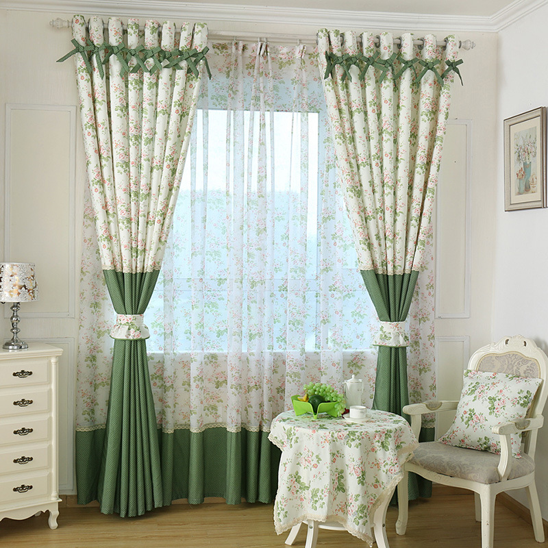 Buy Rustic Pastoral Window Curtain For Kitchen Blackout Curtains Window Drape