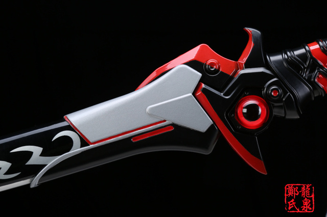 For Over Watch Cosplay Props Replica Genji Oni Skin Blade Real Steel Fantasy Katana Brand New Supply Decorative Sword No Sharp 5