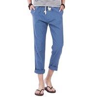 Keten Pantolon Erkekler Için Yaz Pantolon Tam Uzunlukta katı Hafif Keten Pamuk erkek Uzun Pantolon Keten Pantolon Asya boyutu M-5XL