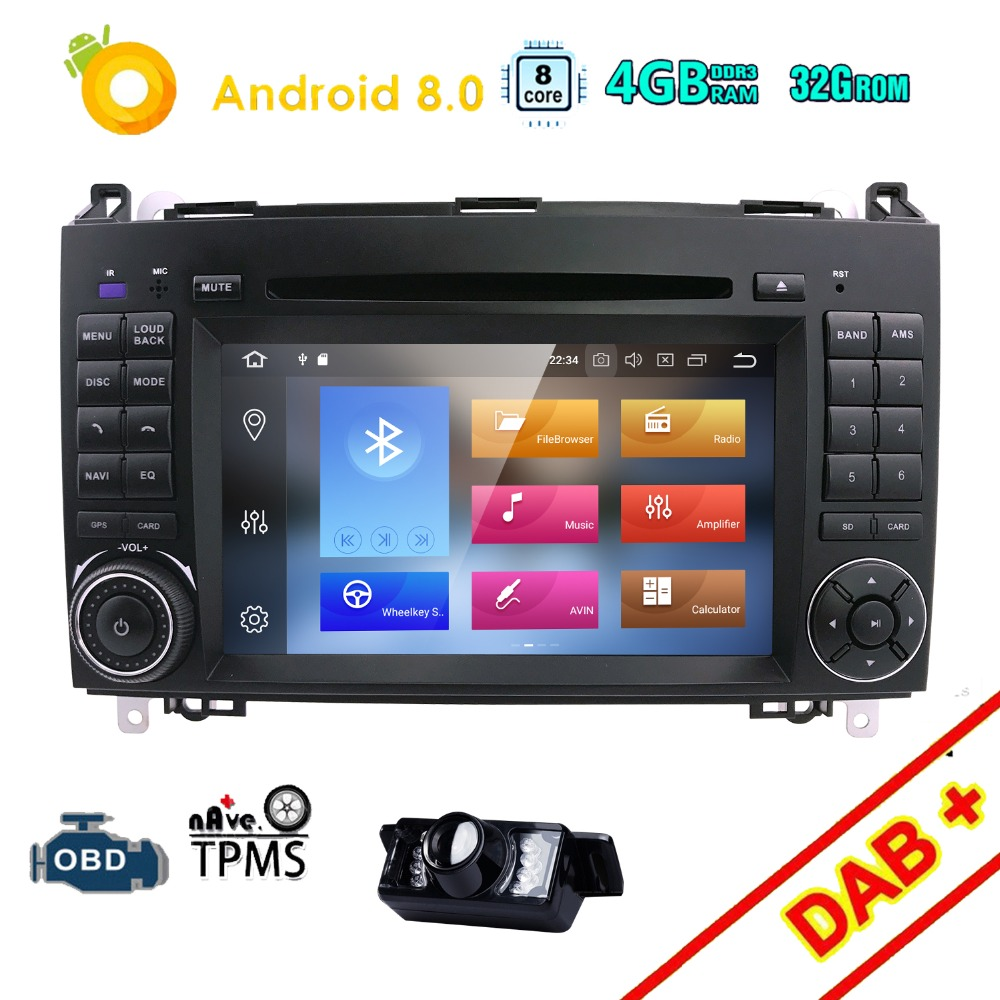 Android 8 0 PX5 Car DVD for Mercedes Benz Sprinter Vito W169 W245 W469 W639 B200