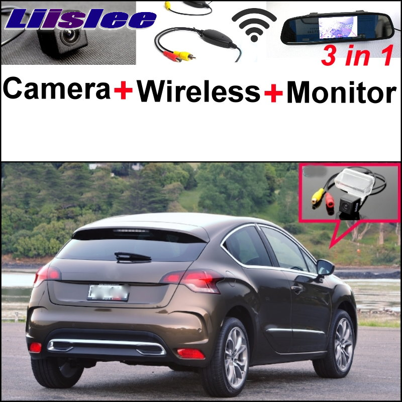 Liislee 3 in1 Special Rear View Camera + Wireless Receiver + Mirror Monitor Easy Parking System For Citroen DS4 DS 4 2010~2015
