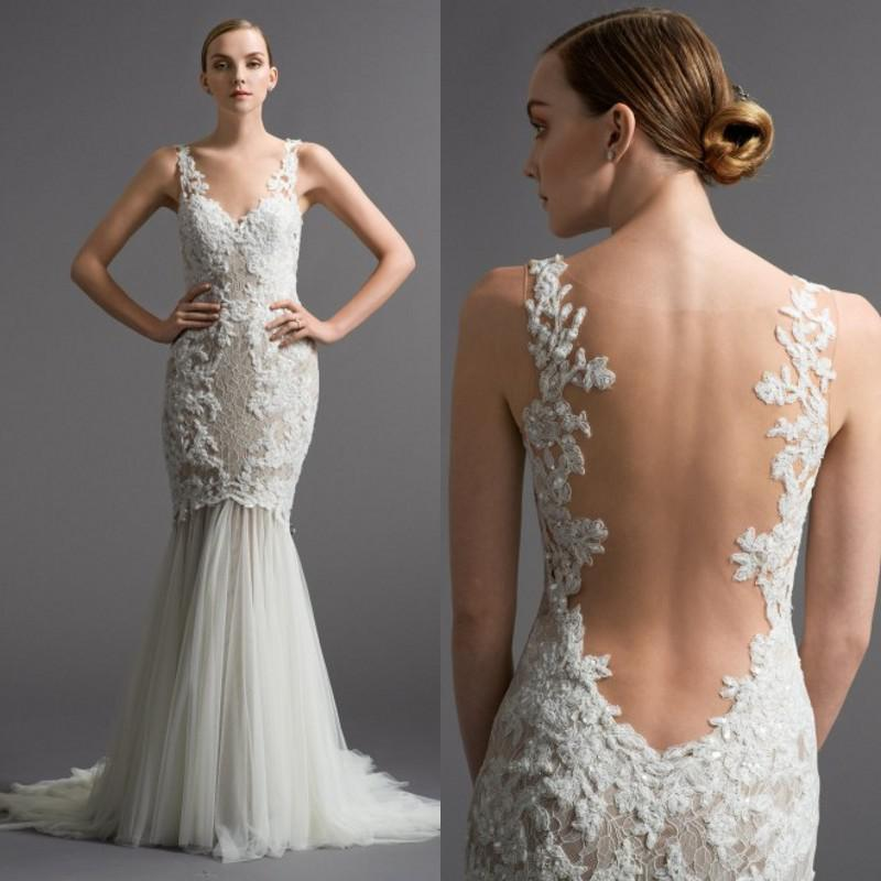 See Through Wedding Gown: 2015 Glamorous Vestidos De Novia Mermaid Wedding Dresses