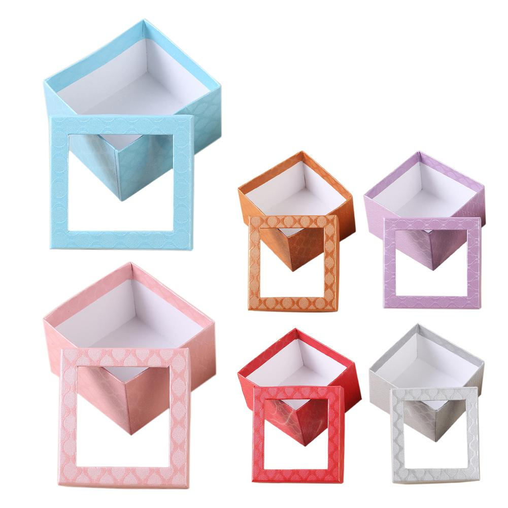 Exquisite Jewelry Packing Box Watch Ring Box With Small Pillow Display Box Jewelry Watch Accessories Supplies 6 Colors