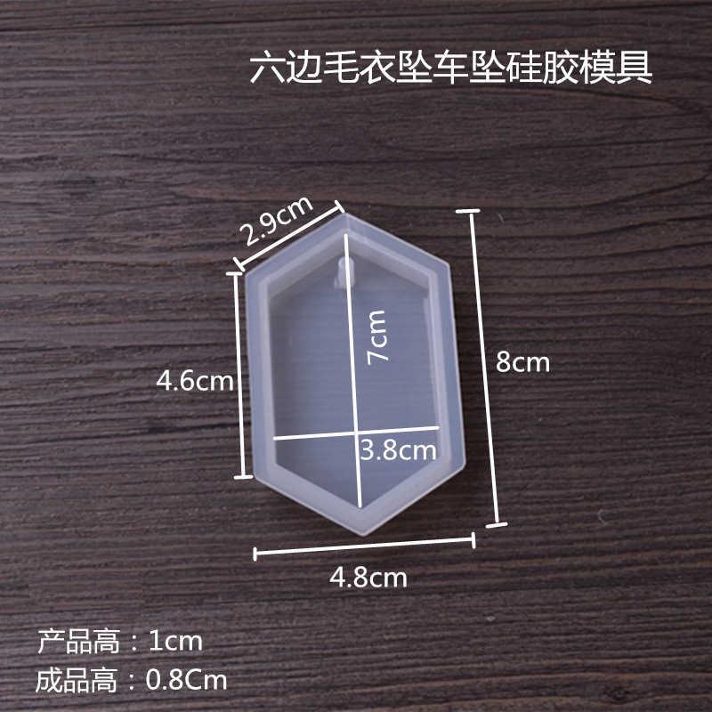 1PC גיאומטרי סוודר תליון DIY שרשרת תכשיטי עובש תליוני קריסטל בקנה מידה תכשיטי שרף תבניות עבור תכשיטי ביצוע כלי