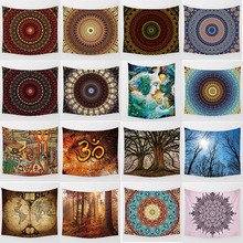 Hot sale high-definition printing  mandala flowers large tapestry wall hanging home decoration