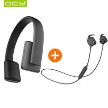 QCY QCY50 наушники с шумоподавлением HIFI 3D стерео звук гарнитура беспроводная связь bluetooth 4.1 и QY12 спортивные наушники для iphone