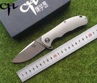 Ch 3504 التصميم الأصلي من سكين للطي سكين S35VN شفرة السيراميك كروي tc4 التيتانيوم مقبض لل تخييم frui