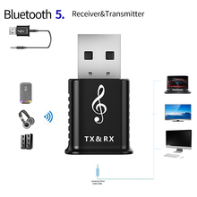 2 in 1 Portable USB Bluetooth 5.0 Transmitter Receiver Car kit Mini 3.5mm AUX Wireless Stereo Audio Adapter For Car Music For TV bluetooth 4 0 car kit 3 5mm usb stereo audio music receiver car kit wireless dongle adapter a2dp for aux car