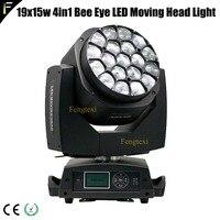 Honeycomb Effect 19x15w 19x15 4in1 RGBW Big Bee Eye LED Moving Head Light Zoom Wash Beam Lights