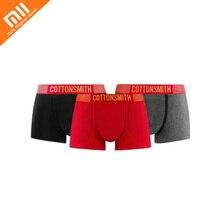 Xiaomi COTTONSMITH festival calcinhas das senhoras preto/vermelho/cinza claro único caixa de homens e mulheres amantes de casamento essencial cueca