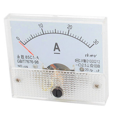 85C1 A DC 0 30Amp Class 2.5 Precision Panel Mounted Analog Ammeter Meter|analog ammeter|ammeter meter|analog panel ammeter - title=