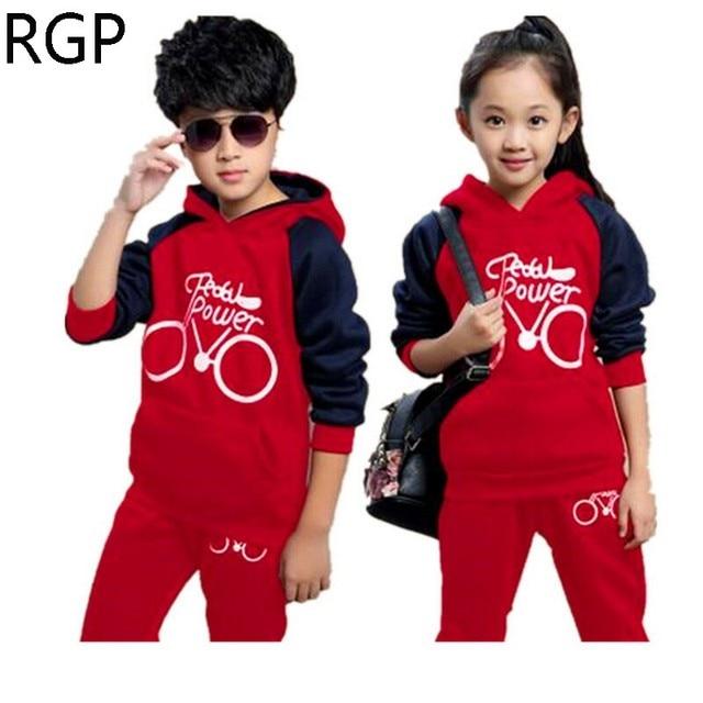 Moda niños deporte traje niños ropa niñas niños chándal ropa deportiva  desgaste adolescente trajes sudaderas con 48ed46c9f65