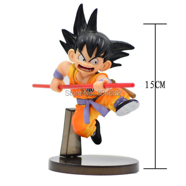 1piece Free Shipping 15CM Dragon ball z figures The Monkey King Goku figure chidren toy Retail colorful package