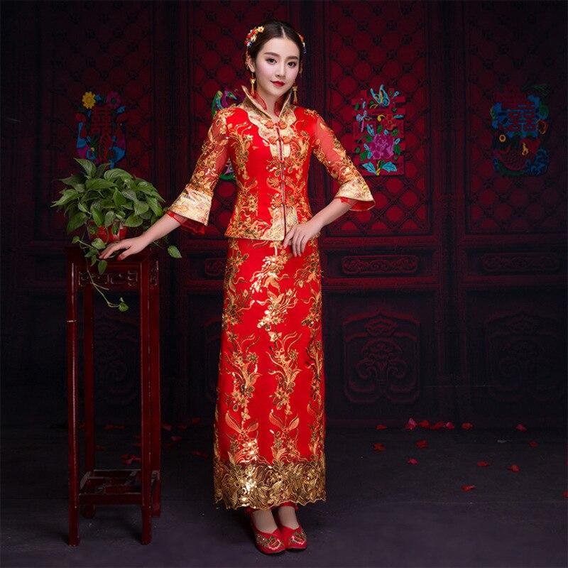 Beste Koop Rode Traditionele Chinese Kleding Vrouwen
