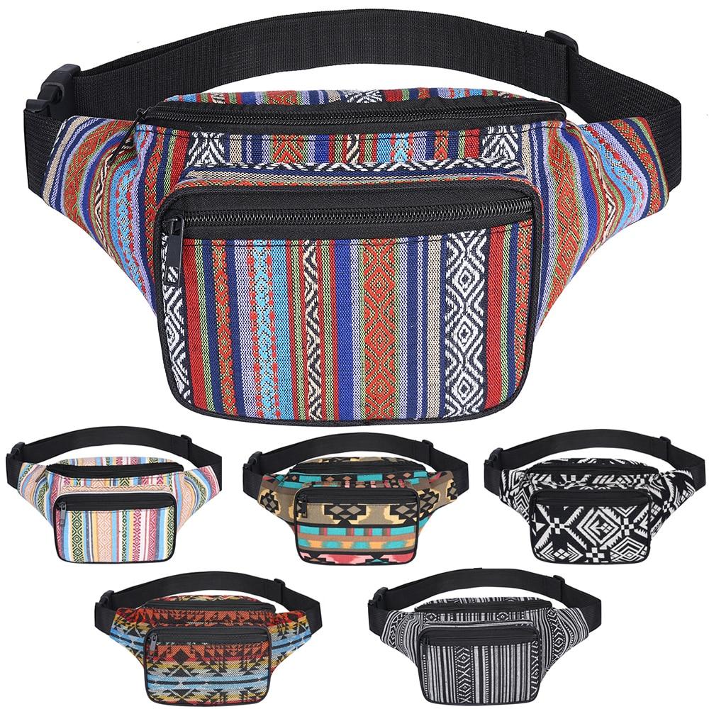 где купить SANSARYA Belt Bag Boho Bohemian Vintage Fanny Pack For Women Cute Festival Hippie Ladies Waist Bag Tribal Aztec Girls Bum Bag по лучшей цене