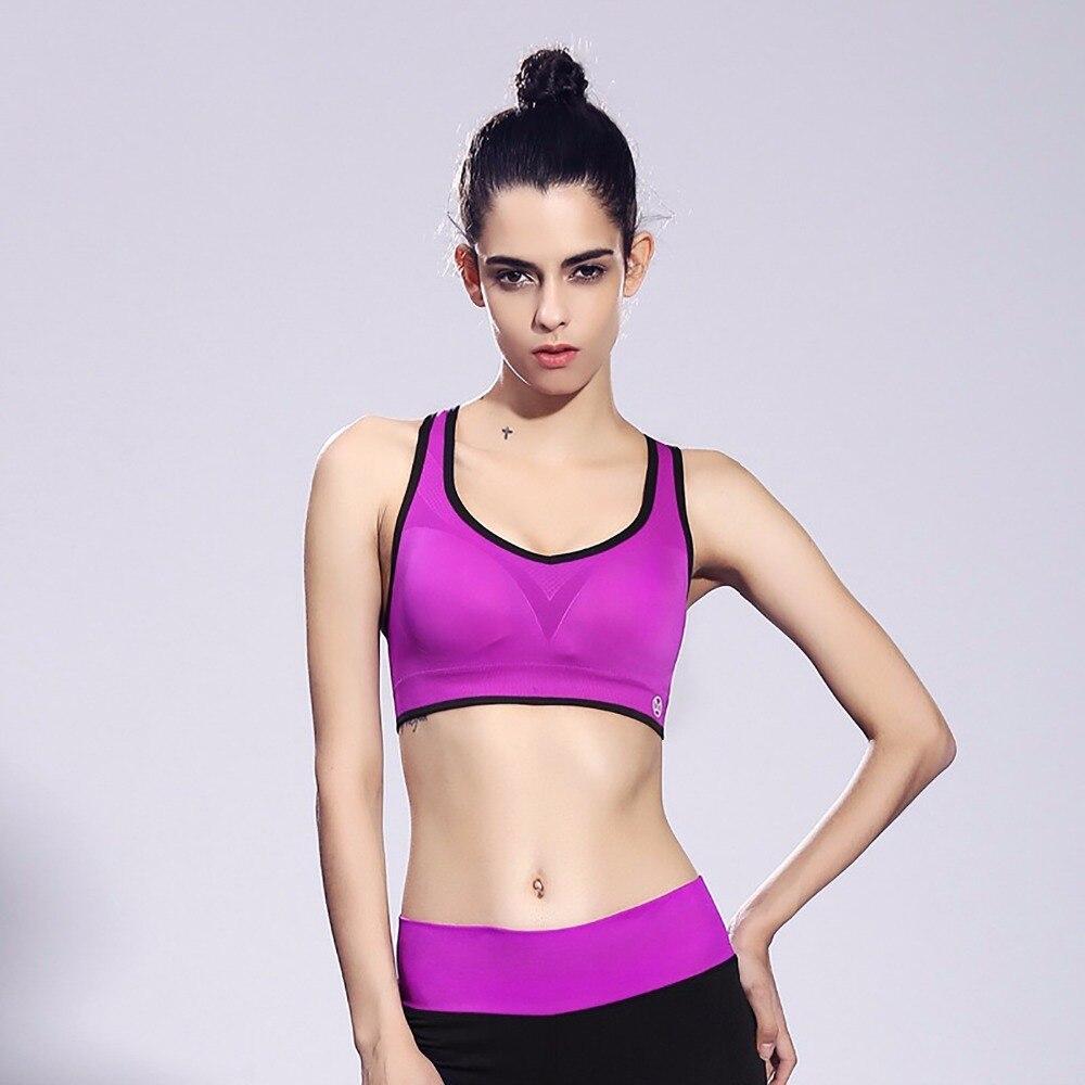 FLANDIS Women Sexy Sujetadores White Yoga font b Sport b font Bra Adjustable Athletic Vest Fitness