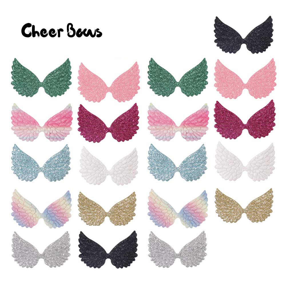 Glitter Wings Patches Colorful Angel Wings For Diy Hair Bow