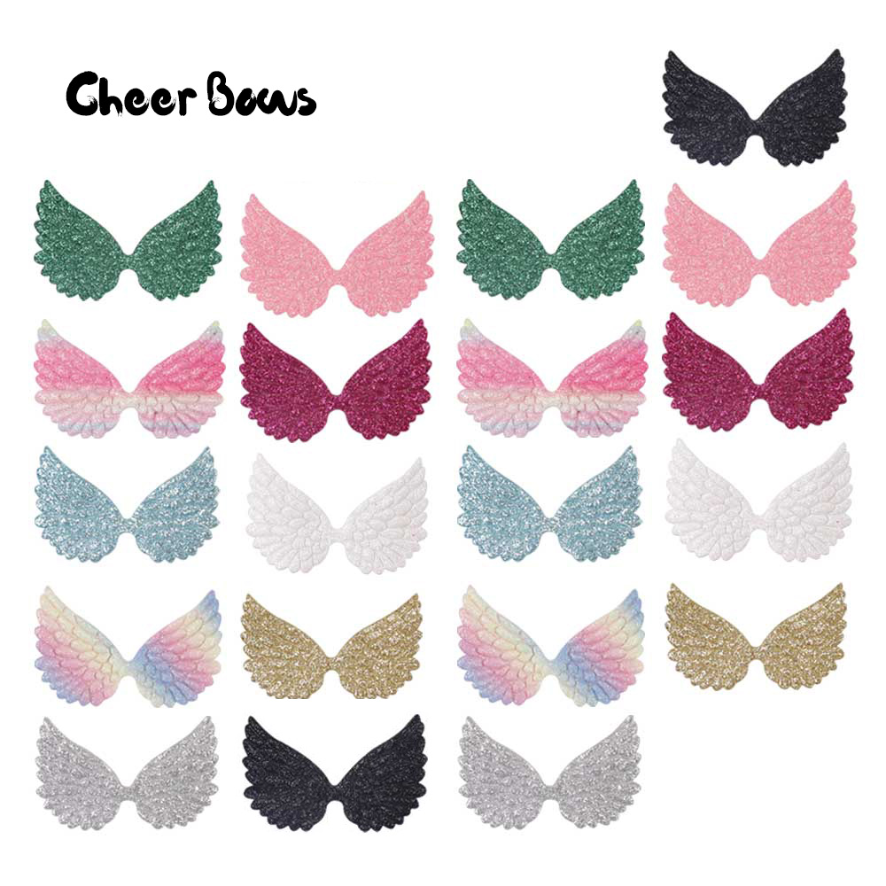 Glitter Wings Patches Colorful Angel Wings For DIY Hair Bow Kids Toy  Clothes Material Handmade Craft Accessories 20pcs bag 6ff0700fffb6