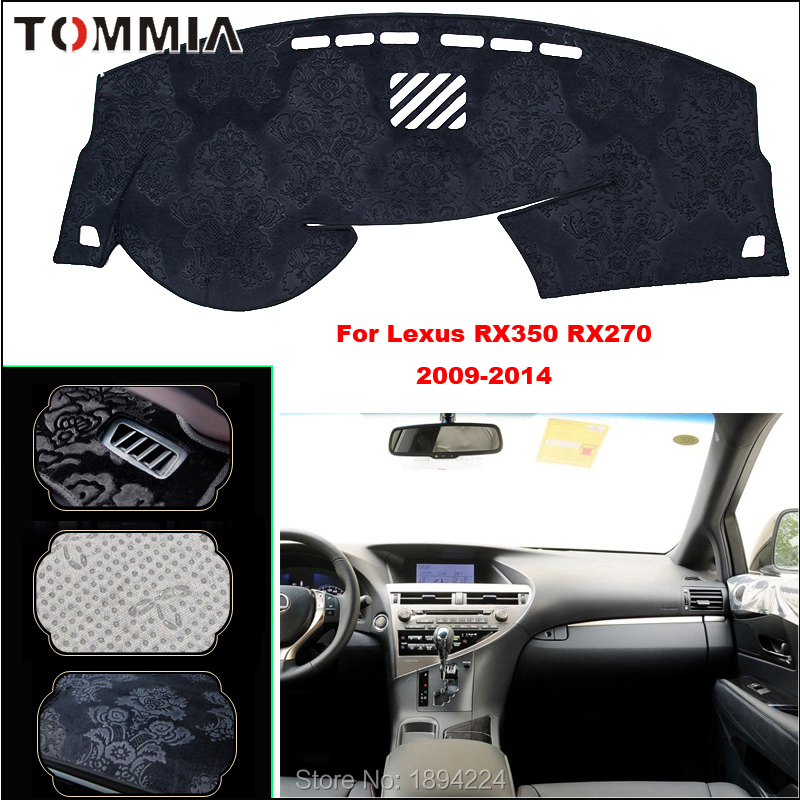 Tommia Car Dashboard Cover Mat Light Avoid Pad Photophobism Anti-slip protection Mat For Lexus <font><b>RX250</b></font> 370 2009-2014 image