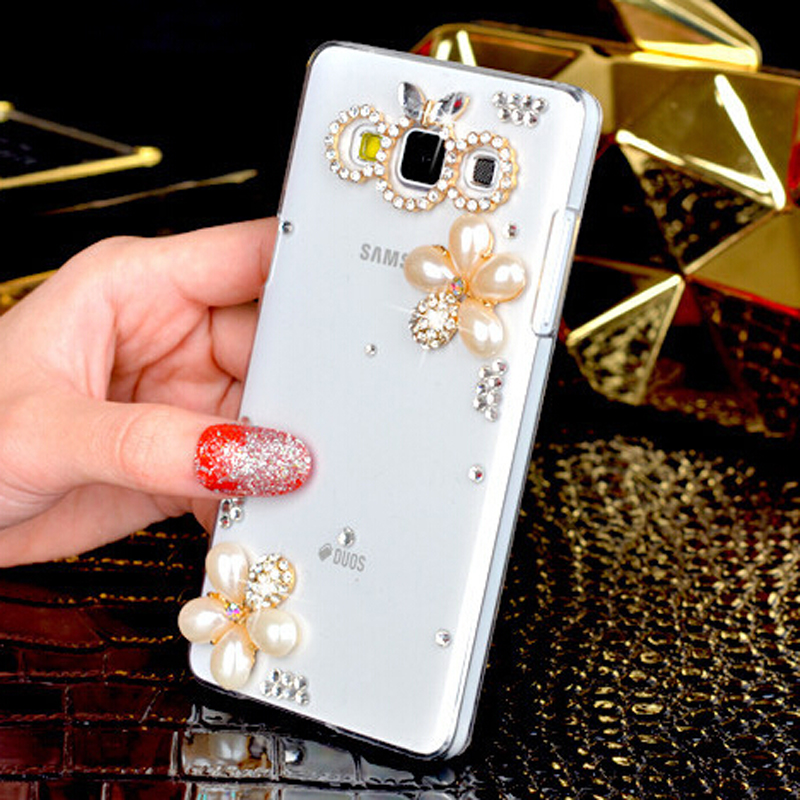 new arrival ce2d7 b2e42 US $5.99  3D Pearl Flower Bling Crystal Diamond Cell Phone Shell Back Cover  Hard Case For Samsung Galaxy Grand Prime Duos G530 H W G5308W on ...
