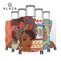 ALAZA African Women Prints Suitcase Cover Elastic Luggage Cover Travel Accessories Fits to 18'' 32'' Custom Your Own Image HOT