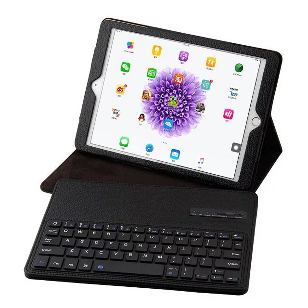 Luxury Detachable Bluetooth 3.0 Keyboard Folio Stand Leather Case Cover For Apple <font><b>iPad</b></font> <font><b>Air</b></font> <font><b>1</b></font> <font><b>2</b></font> Air2 /<font><b>iPad</b></font> Pro <font><b>9</b></font>.<font><b>7</b></font> 2016 <font><b>2017</b></font> <font><b>2018</b></font> image