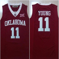 Gefex make Trae Young #11 Basketball men'S Jersey accepts Red and White color personality customizations