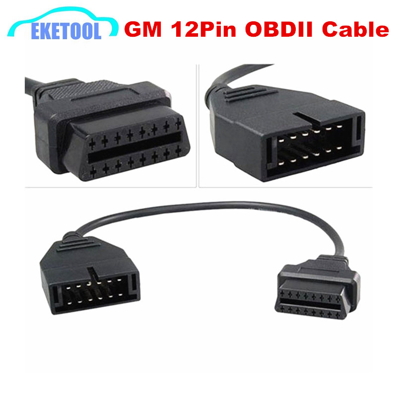 Quality Best Connector Cable For GM 12PIN OBD OBDII Automotive Adapter For GM 12 Pin to 16 Pin Female Diagnosis Interface