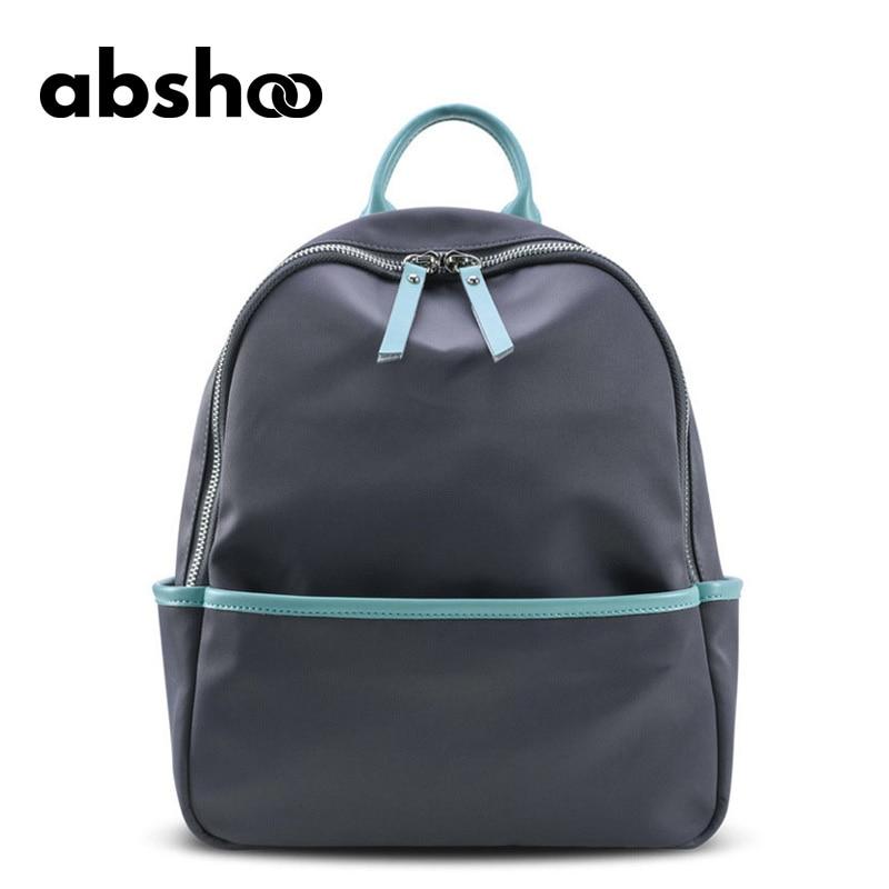 Abshoo New Women Nylon Bag Fashion Summer Waterproof Nylon Backpacks For Woman Black Bags Female Ladies