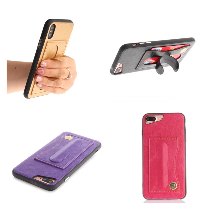 PU Leather+PC+TPU Back Case for iPhone 5S 5 SE 6 6S 7 8 Plus X Cover Luxury Slim Anti-knock Back Cover for iPhone X Capa Case