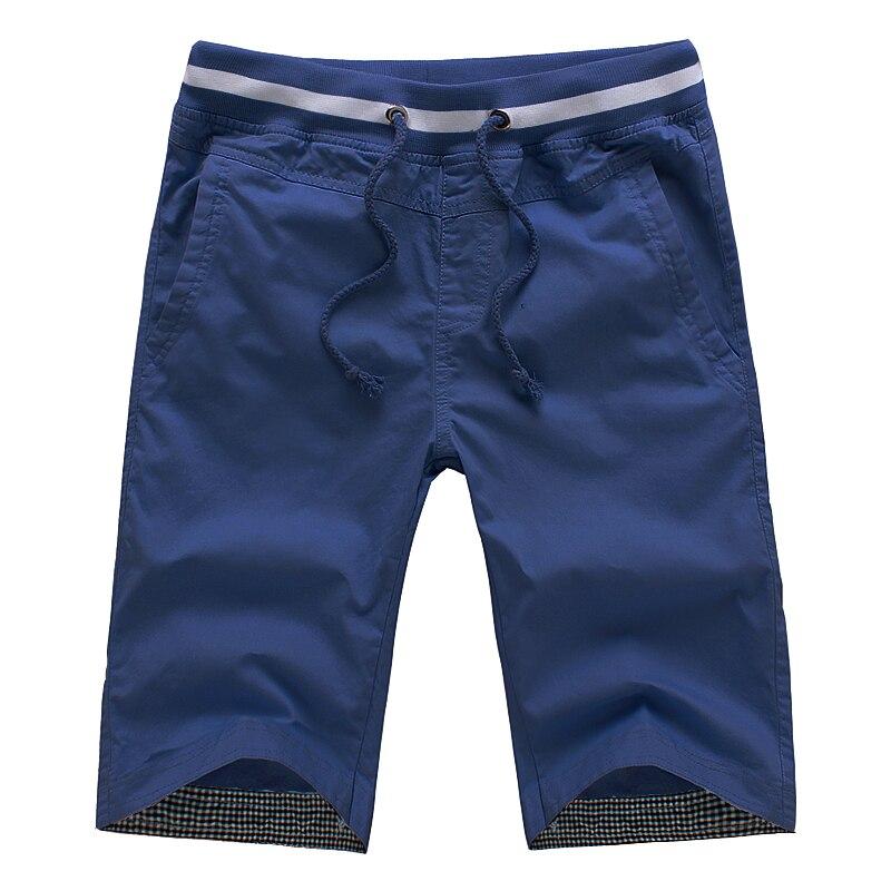 Novo 2017 do Verão Dos Homens Shorts Homens Bermudas Retas Casuais Masculino Algodão Moda praia Calças Curtas Cores Doces Plus Size 5XL