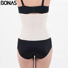 BONAS Solid Color Shaper Hot Body Slimming Women Corset Waist Trainer Cinchers Belt Girls Polyester Slim Shapewear Big Size
