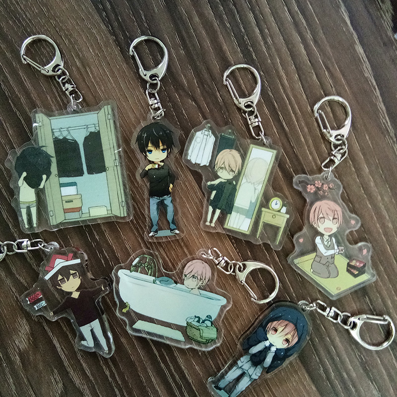 Fujoshi Comic Keychain Ten Count 10 Count 10th Anniversary Tadaomi Takarai Rihito Shirotani Keychain Llavero Keyring Pendant