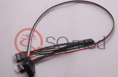 PC DIY 9Pin USB 1 Female to 2 Male Splitter Data Cable + 5V 4Pin IDE Molex Reinforce Power Lead 24AWG Wire Motherboard Internal