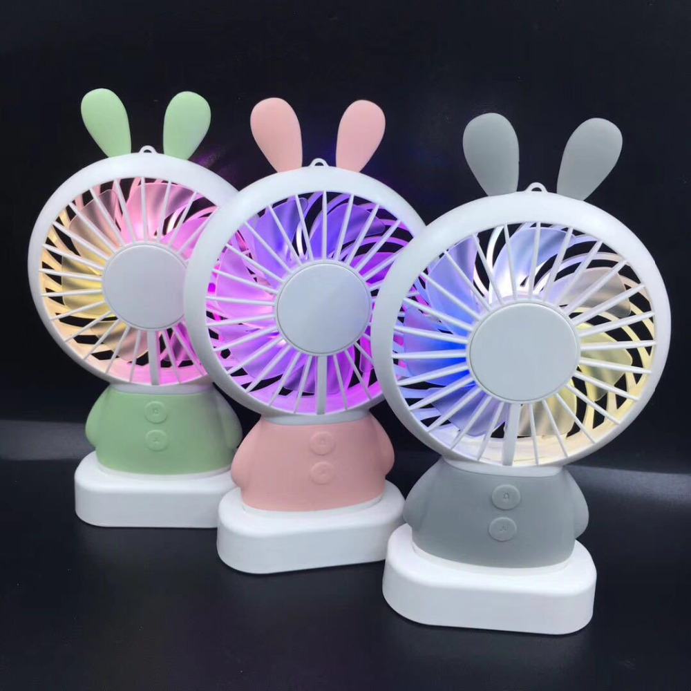 Portable USB Power Fan Mini Bear Rabbit Ventilator Handheld Fan Rechargeable Fan Portabl ...